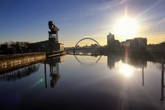 The river Clyde on a lovely morning royalty free stock images