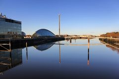 The river Clyde on a lovely morning stock photos