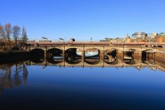 The river Clyde on a lovely morning stock photography