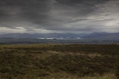 The Trossach mountain range and Loch Lomond royalty free stock image