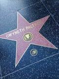 Gwyneth Paltrow Hollywood går av berömmelsestjärnan Royaltyfri Fotografi