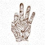 Gyan Mudra Mudra di conoscenza Mani di gesto di yoga di vettore Immagine Stock