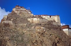 Gyantse Fort, Tibet Stock Images