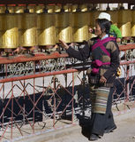 gyantse kumbum modlitewni Tibet koła Fotografia Royalty Free