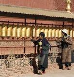 gyantse kumbum modlitewni Tibet koła Obraz Royalty Free