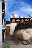Gyantse Monastery. Near Lhasa in central Tibet stock images