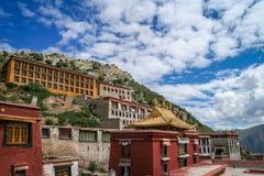 Ganden Monastery near Lhasa Stock Photo