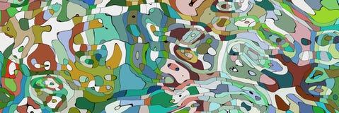 Gyckel buktad linje stock illustrationer