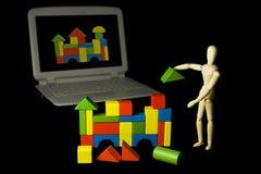 gyckel för arkitekt CAD Fotografering för Bildbyråer