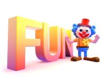 gyckel för clown 3d Arkivbilder