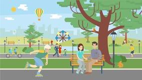 Gyckel i Park vektor illustrationer