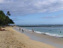 Gyckel på Waikiki arkivbilder