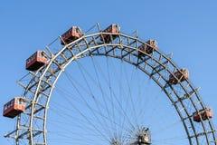 Gyckel parkerar Ferris Wheel In Vienna Prater som gyckel parkerar Arkivfoto