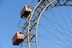 Gyckel parkerar Ferris Wheel In Vienna Prater som gyckel parkerar Royaltyfri Foto