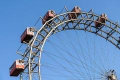 Gyckel parkerar Ferris Wheel In Vienna Prater som gyckel parkerar Royaltyfria Foton