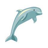 Gyckel som delfin ler också vektor för coreldrawillustration stock illustrationer
