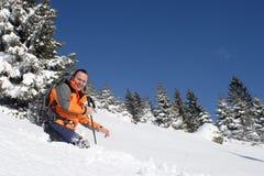 gyckel som har snow arkivbilder