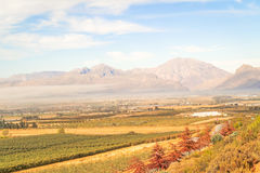 Gydo Pass between Ceres and Citrusdal, Western Cape in South Afr Royalty Free Stock Photography