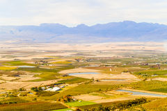 Gydo Pass between Ceres and Citrusdal, Western Cape in South Afr Royalty Free Stock Image