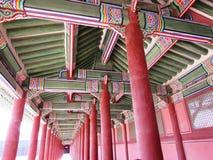 Gyeongbok宫殿华丽天花板 库存图片