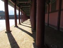 Gyeongbok pałac podwórza widok Obraz Royalty Free