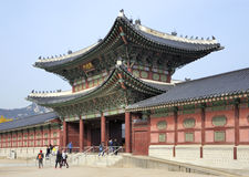 Gyeongbok Palace entry gate, Seoul, South Korea Royalty Free Stock Images