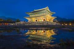 Gyeongbok palace in Seoul City, South Korea Stock Image