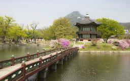 At Gyeongbok palace, Seoul. Stock Image