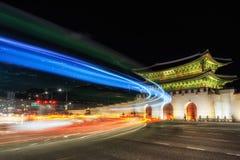 Gyeongbok Palace taken at night Stock Image