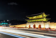 Gyeongbok Palace taken at night Stock Images