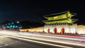 Gyeongbok Palace taken at night Royalty Free Stock Photography