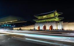 Gyeongbok Palace taken at night Stock Photo