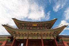 Gyeongbok slott i Seoul, Sydkorea Arkivbild