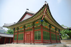 Gyeongbokgung宫殿在汉城,韩国 免版税库存图片