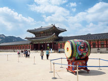 gyeongbokgung宫殿汉城 免版税库存照片