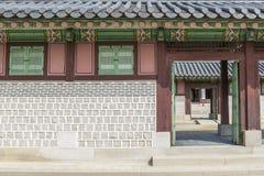 Gyeongbokgung ściany wzór Zdjęcia Royalty Free