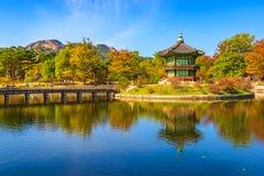Gyeongbokgung pałac w Seul, Korea Zdjęcie Royalty Free