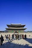 Gyeongbokgung Palace. Low angle exterior view of Gyeongbokgung Royal Palace, Seoul, South Korea Stock Images