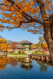Gyeongbokgung Palace in autumn, Korea. stock photos