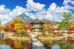 Gyeongbokgung Palace in autumn, Korea. Gyeongbokgung Palace in autumn,South Korea stock photo