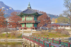 Gyeongbokgung Palace in Autumn, South Korea Stock Photography