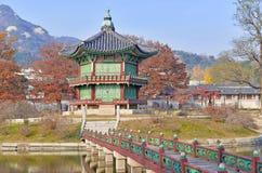 Gyeongbokgung Palace in Autumn, South Korea stock photography