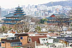Gyeongbokgung, or the Palace of Felicitous Blessing, was the mai. N palace of the Joseon Dynasty in korea Stock Image