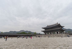 Gyeongbokgung, or the Palace of Felicitous Blessing Royalty Free Stock Photos