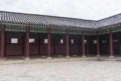 Gyeongbokgung, or the Palace of Felicitous Blessing. Was the main palace of the Joseon Dynasty in korea Stock Photo