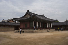 Gyeongbokgung, or the Palace of Felicitous Blessing. Was the main palace of the Joseon Dynasty in korea Stock Images