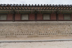 Gyeongbokgung, or the Palace of Felicitous Blessing Royalty Free Stock Images