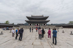 Gyeongbokgung, or the Palace of Felicitous Blessing Stock Photography