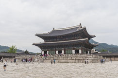 Gyeongbokgung, or the Palace of Felicitous Blessing. Was the main palace of the Joseon Dynasty in korea Royalty Free Stock Photo