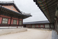 Gyeongbokgung, or the Palace of Felicitous Blessing. Was the main palace of the Joseon Dynasty in korea Royalty Free Stock Image